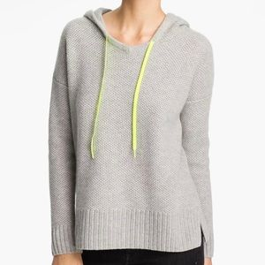 Autumn Cashmere Honeycomb knit hoodie
